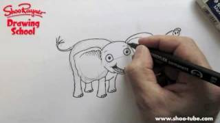 How to draw a cute baby Elephant
