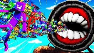 Throwing 1,000,000 RAGDOLLS Into GIANT SIREN HEAD (Fun With Ragdolls Gameplay)