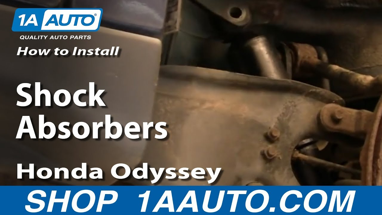 How To Install Replace Rear Shock Absorbers Honda Odyssey