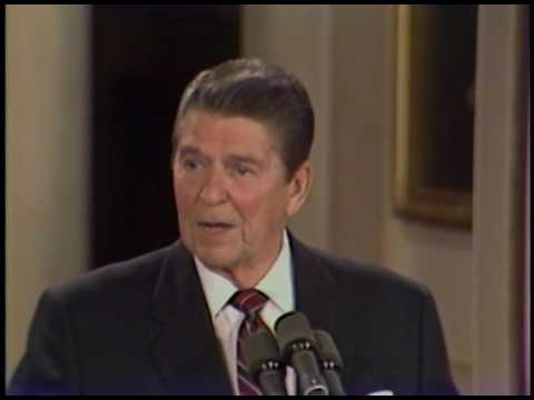 President Reagan's 28th Press Conference in the East Room on February 21, 1985