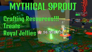 MYTHICAL SPROUT!!! Crafting Resources! Treats! Royal Jellies! - ROBLOX BSS