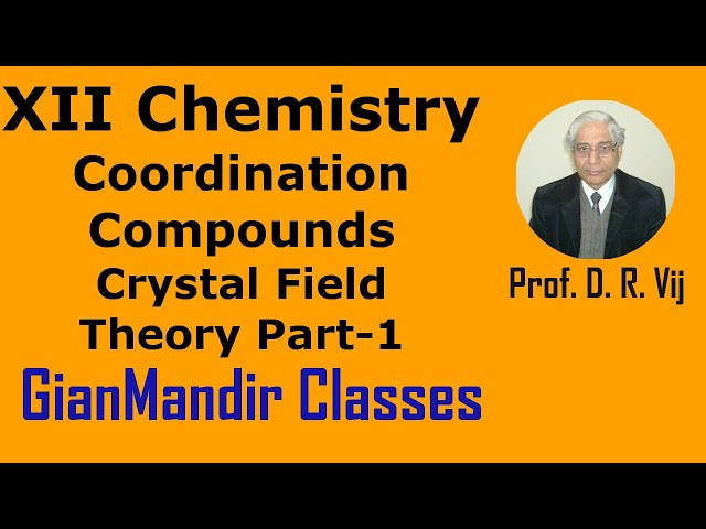XII Chemistry | Coordination Compounds | Crystal Field Theory Part-1 by Gourav Sir
