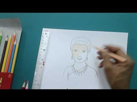 สอนวาดภาพพระราชินี ง่ายๆทำตามได้ โดยครูโย่กับน้องปันปันนักพากย์น้อย