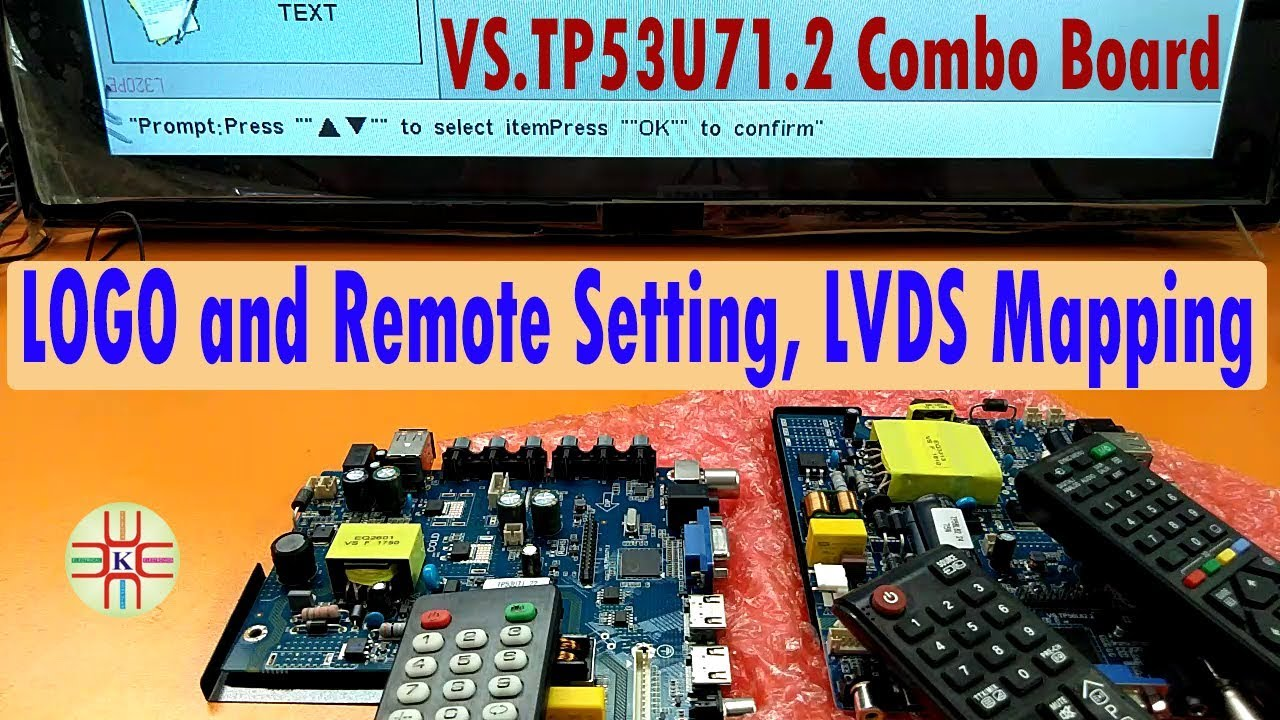 VS TP53U71 2 LED TV Combo Board How to Change Logo and Remote Without  Software  Detail in Urdu/Hindi
