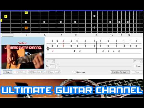 [Guitar Solo Tab] Yellow (Coldplay)