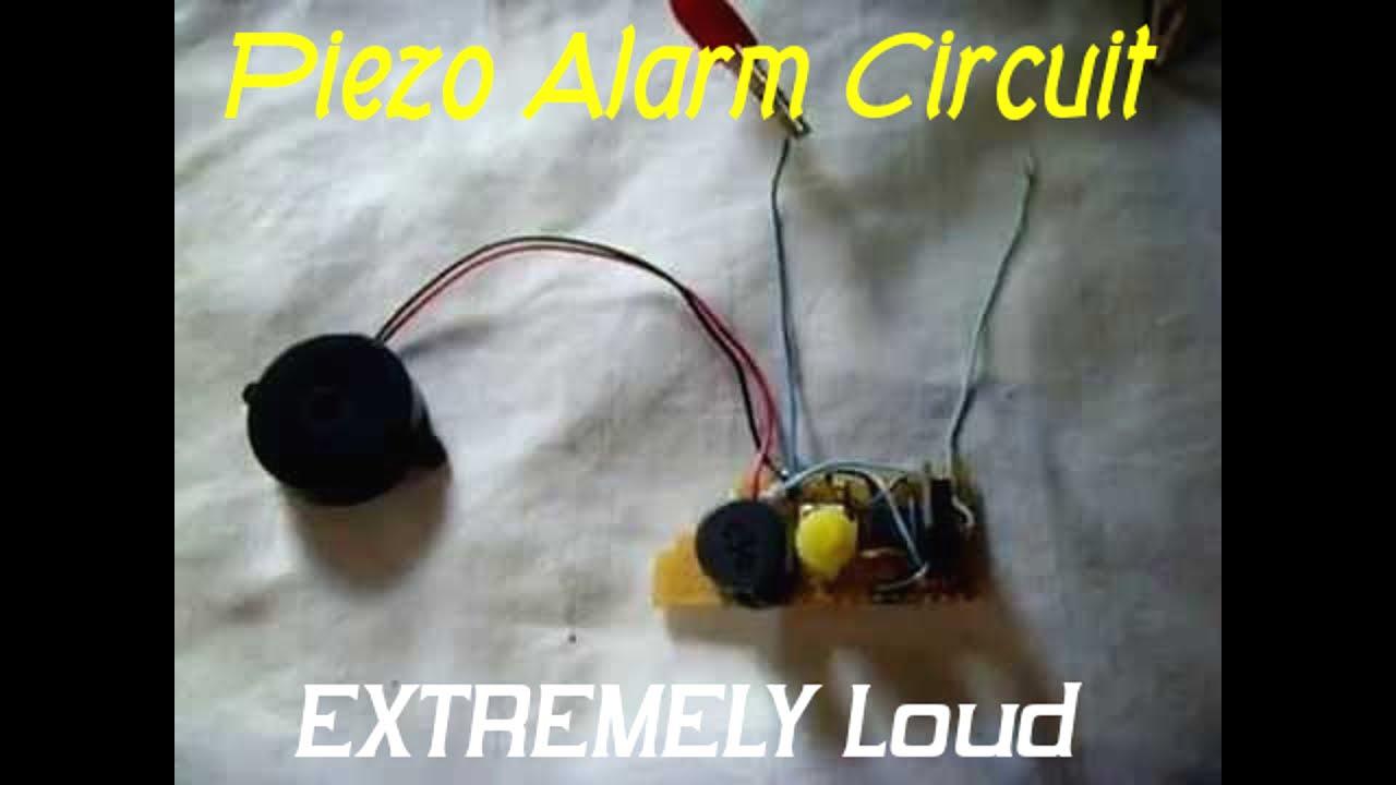 12v Piezo Siren Circuit Ear Piercing Sound Magnetic And Buzzer Circuits