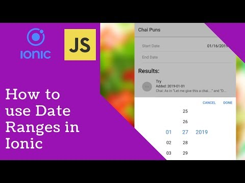 Date Ranges With Ionic Datetime