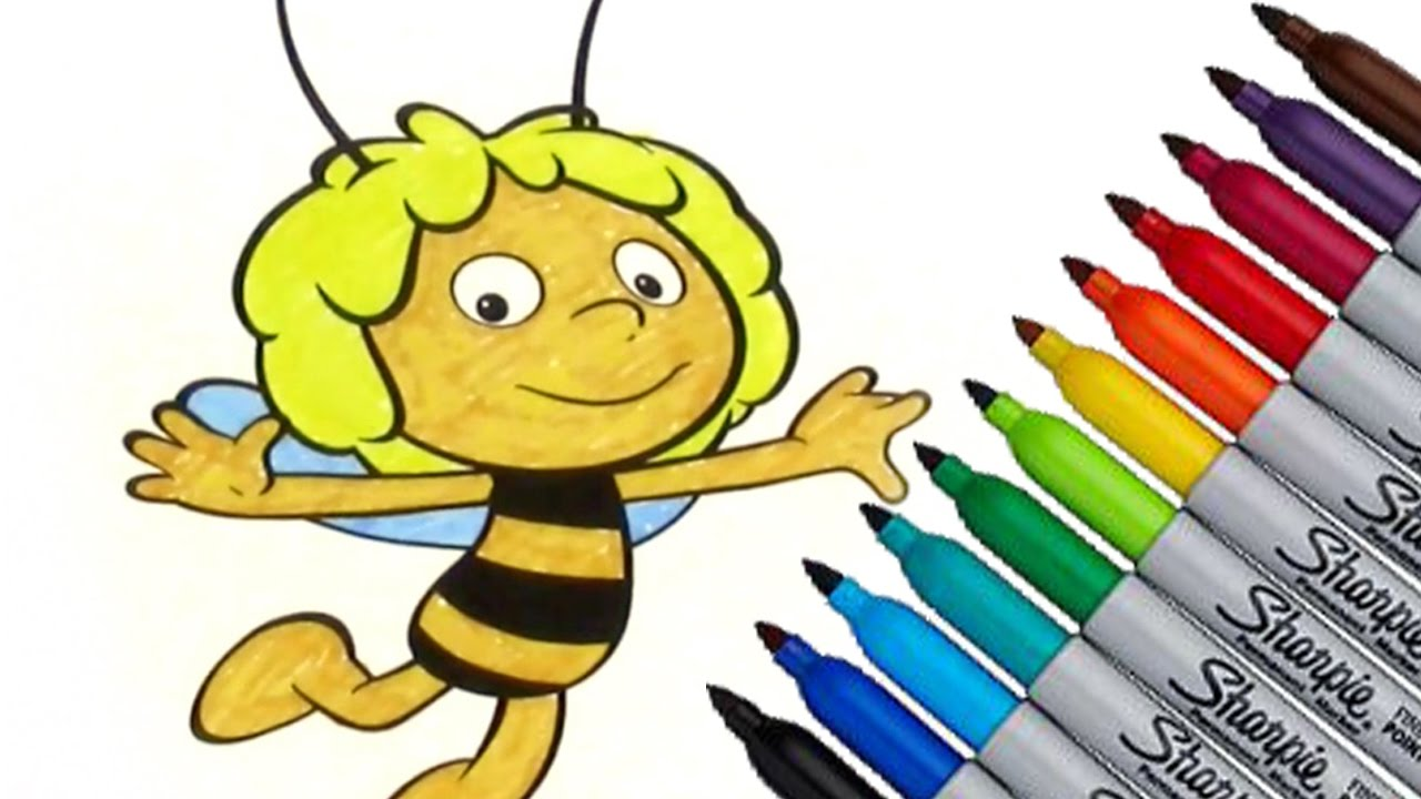 maya the bee movies coloring page 2016 new hd video for kids youtube