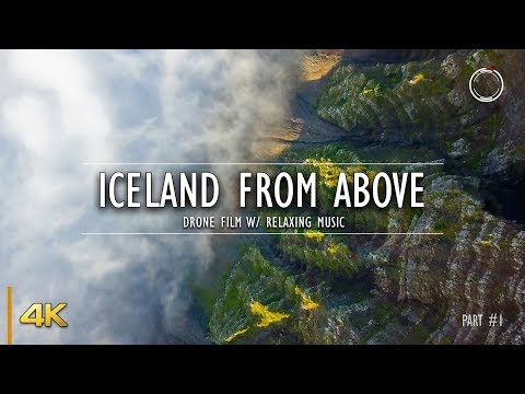 Iceland From Above - Part 1 | 1 Hour Drone Film | Aerial 4K Video W/ Relaxing Music | OmniHour