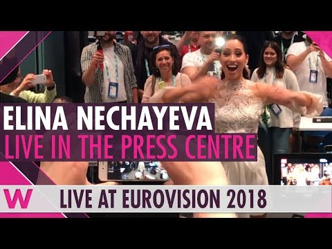 Elina Nechayeva sings opera LIVE in Eurovision 2018 press room
