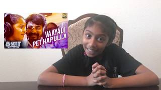 Kanaa Vaayadi Petha Pulla Song Reaction by American Tamil Girl | Sivakarthikeyan