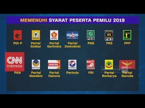 Resmi! KPU Tetapkan 14 Parpol Pemilu 2019