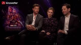 Baixar Interview Chris Hemsworth, Scarlett Johansson & Paul Rudd AVENGERS: ENDGAME Marvel