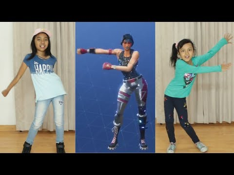 FORTNITE DANCE CHALLENGE In Real LIfe ♥ Kids Challenge Videos
