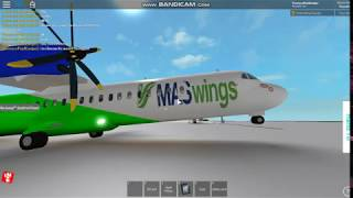 Flying a MASwings ATR 72-600 on roblox!