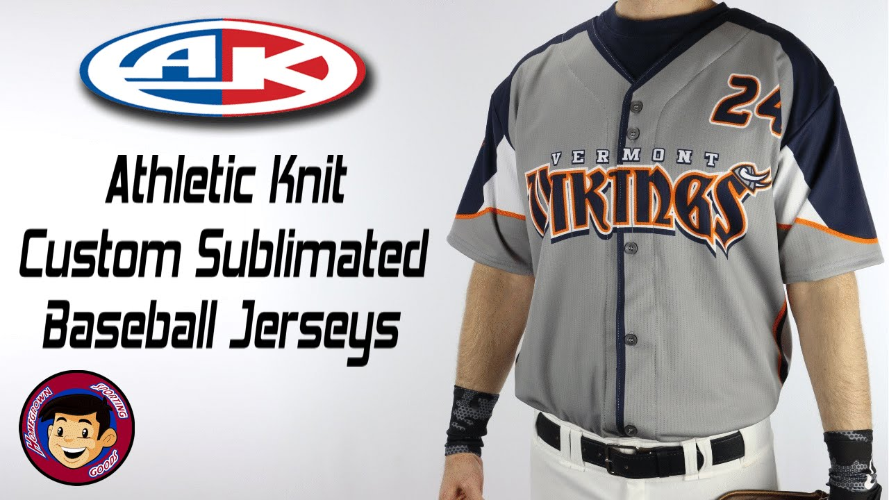 sports shoes 4357f 83a5e Custom Sublimated Baseball Jerseys | Athletic Knit - Homegrown Sporting  Goods