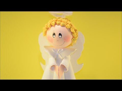 Como Fazer Fofucho Anjo Natalino Em Eva Enfeite Natalino Como Hacer ángel How To Make Angel