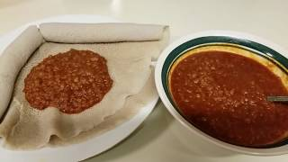 How to make red lentils stew/የምስር ክክ ቀይ ወጥ።