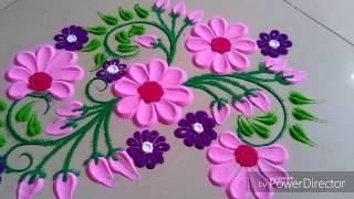 Beautiful cute rangoli design by Jyoti Raut Rangoli