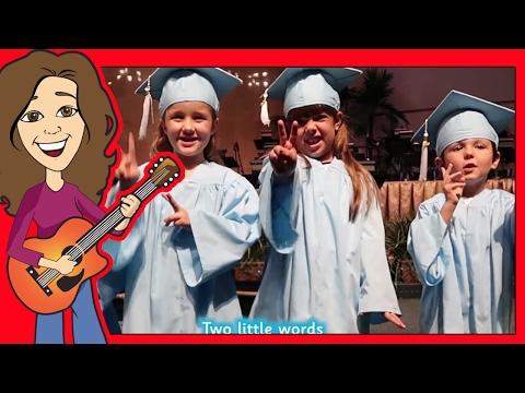 Graduation Song for Preschool, Thank you song for Kindergarten with lyrics   Patty Shukla