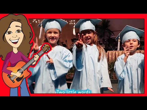 Graduation Song for Preschool, Thank you song for Kindergarten with lyrics  Patty Shukla