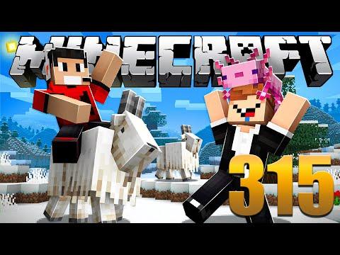 Finalmente AXOLOTES e CABRAS - Minecraft Em busca da casa automática #315