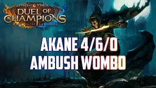Might & Magic Duel of Champions - Akane 4/6/0 open - Top Deck - Ambush Wombo
