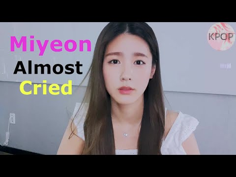 (G)I-dle Miyeon holds back from bursting into tears - cute and touching moment