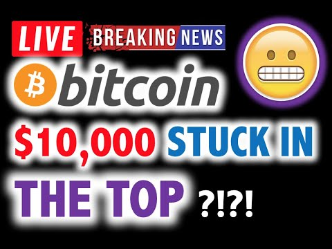 BITCOIN TOPPED OUT?! Was $10,000 THE TOP? 😵 LIVE Crypto Analysis TA & BTC Cryptocurrency Price News