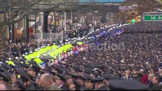 NYPD OFFICER LIU FUNERAL-THOUSANDS OF OFFICERS