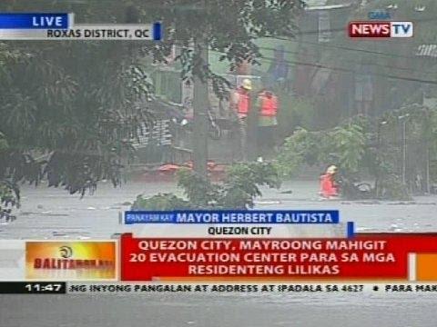 BT: Quezon City, mayroong mahigit 20 evacuation center para sa mga residenteng lilikas