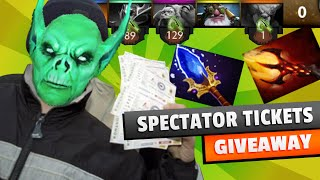 DOTA 2 GIVEAWAY : SPECTATOR TICKETS