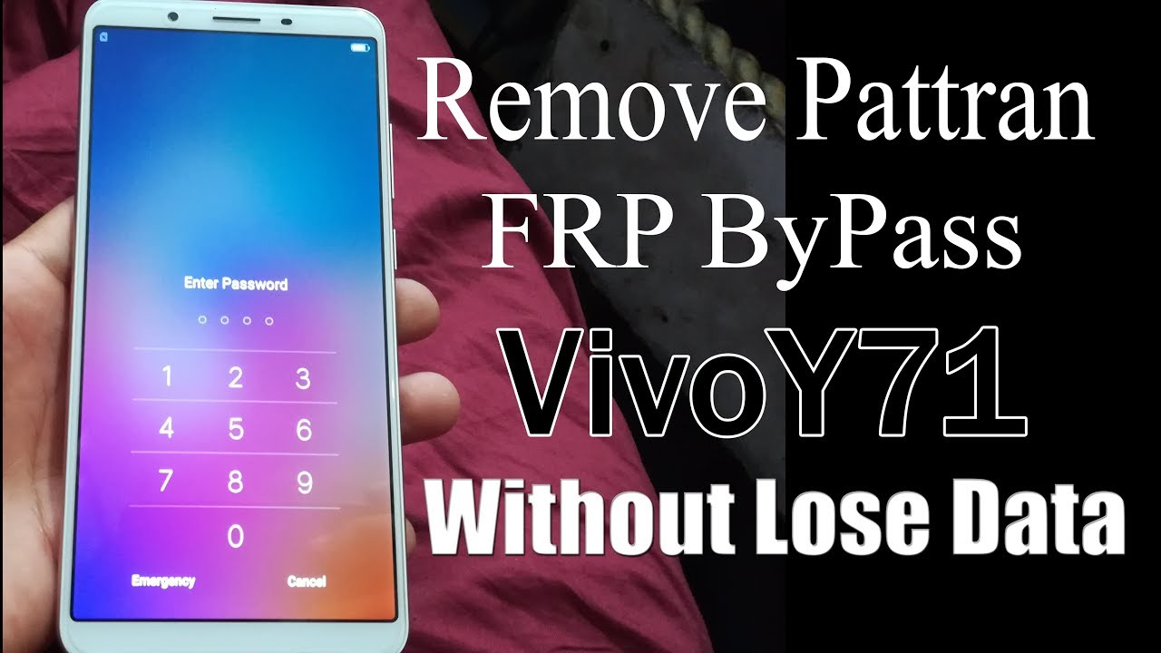 VIVO Y71 ( VIVO 1801 )Pattren Unlock Hard Reset and FRP Unlock Solution