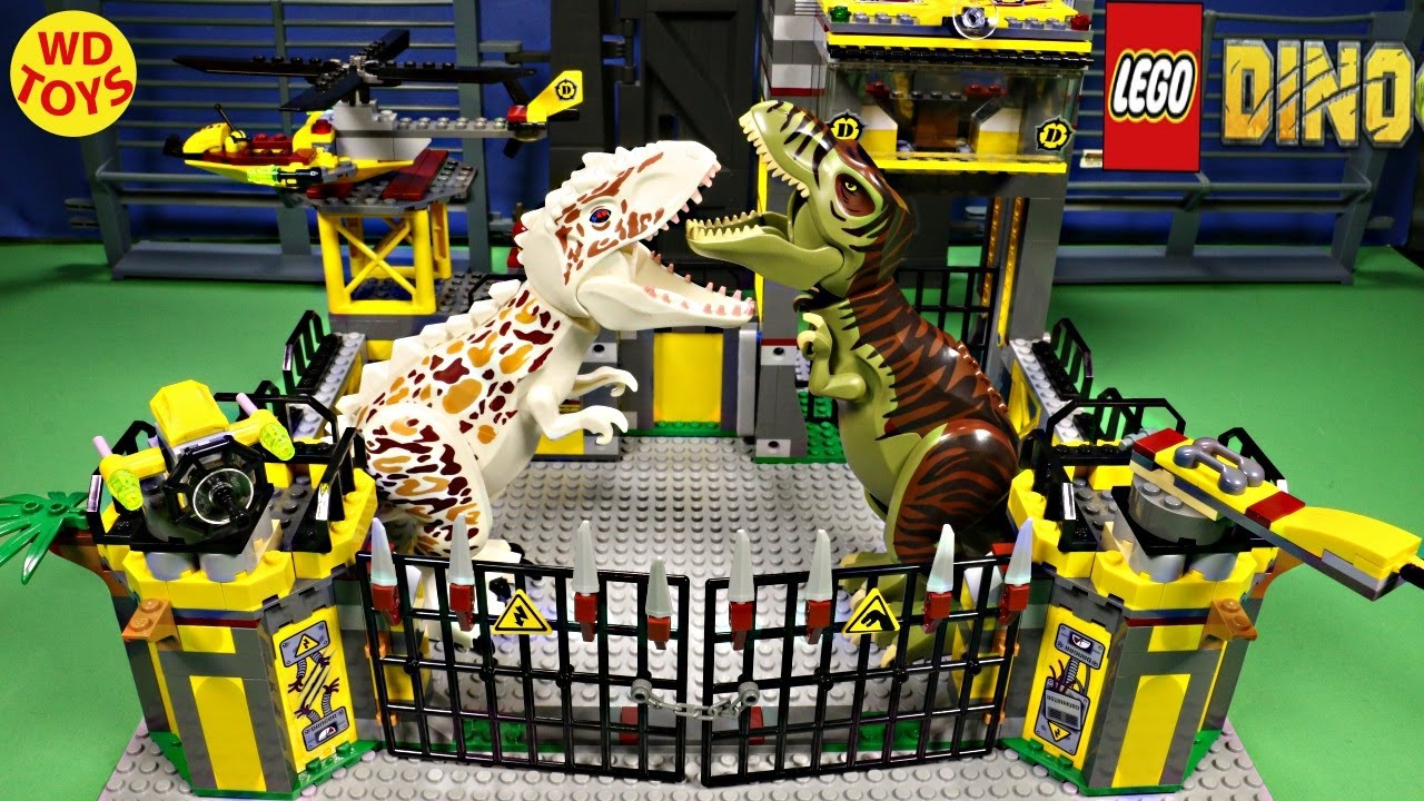 Lego dino defense hq 5887 stop motion speed build dinosaur - Lego dinosaures ...