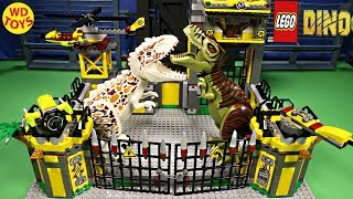 LEGO Dino Defense HQ 5887 STOP MOTION SPEED BUILD DINOSAUR TOYS INDOMINUS VS TREX JURASSIC WORLD