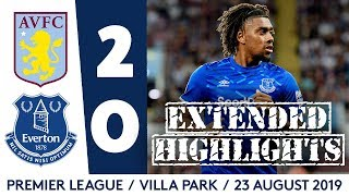IWOBI MAKES EVERTON DEBUT | EXTENDED HIGHLIGHTS: ASTON VILLA 2-0 EVERTON