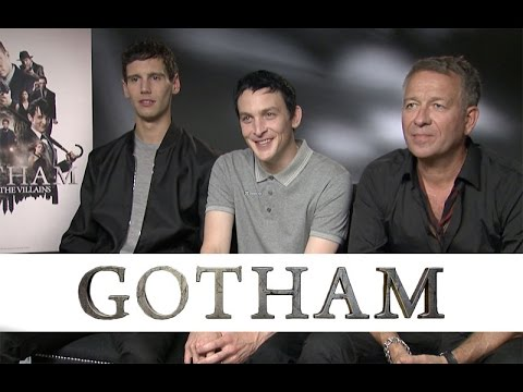 Cory Michael Smith, Robin Lord Taylor and Sean Pertwee Gotham Interview (HD)