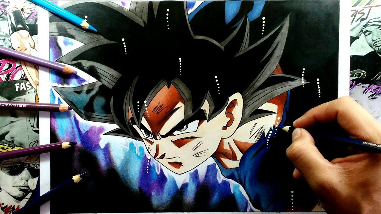 """Dibujos Para Colorear De Goku Ultra Instinto: Dibujo De Goku Ultra Instinto """"Migatte No Gokui""""-Drawing"""