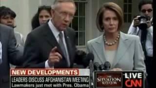 Nancy Pelosi Moves Away Unhappy from Sen Harry Reids Over The Back Hug - 10-06-09
