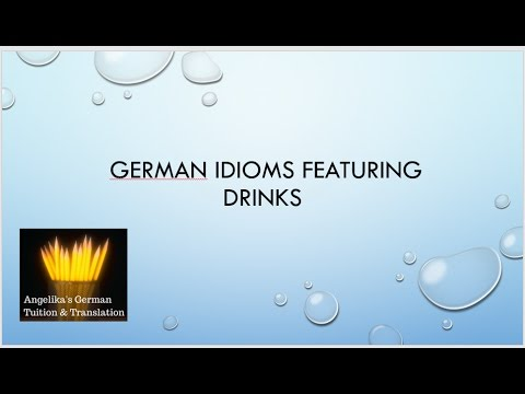 German idioms  featuring drinks