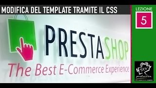 Prestashop 1.6 - Lezione 05 - Modifica dimensioni header e logo dal file di .css