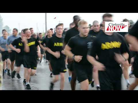 Division Run at Fort Campbell for 75th birthday of 101st