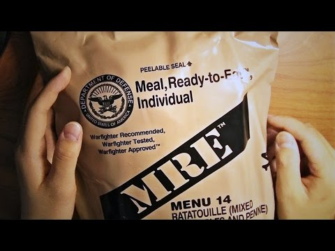 ASMR Unboxing | Opening a US Military MRE
