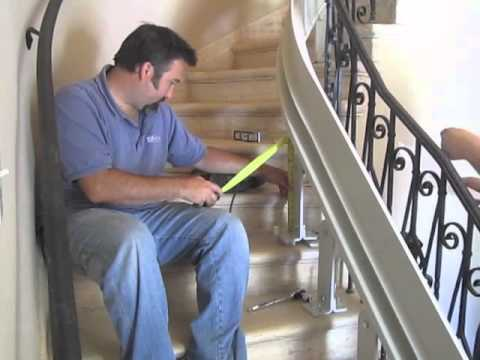 bruno curved stair lift