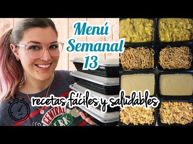 Meal Prep *COCINA UN DIA PARA TODA LA SEMANA* Batch Cooking Saludable MENÚ SEMANAL