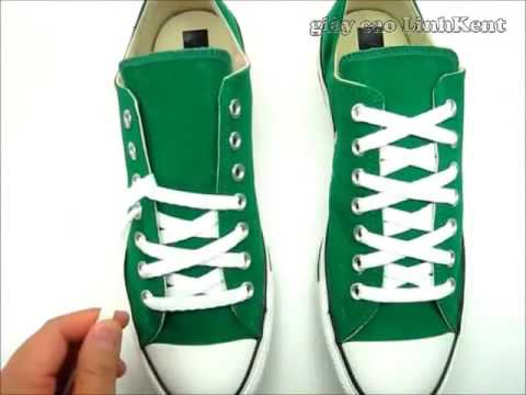 How to tie your shoelace converse - YouTube