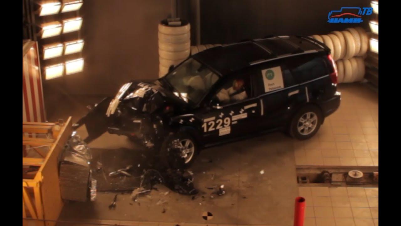 Испытания по проверке пассивной безопасности автомобиля и системы срабатывая «ЭРА-ГЛОНАСС»