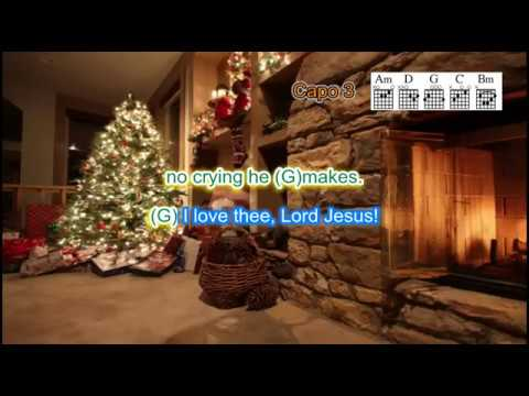 Away in a Manger with chords, lyrics and vocal for guitar and ukulele