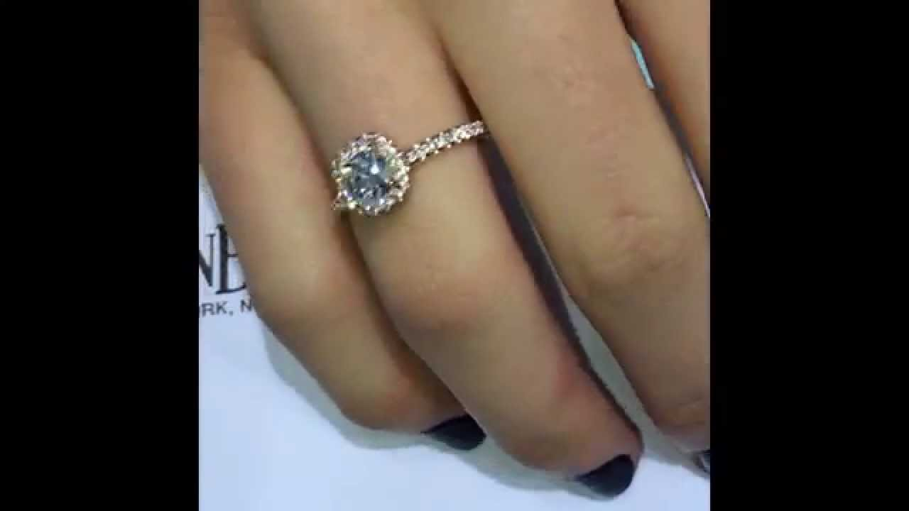 Cushion Cut Diamond In Rose Gold Halo Engagement Ring