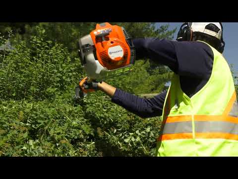 How to Safely Use a Commercial Gasoline Powered Hedge Trimmer   Husqvarna